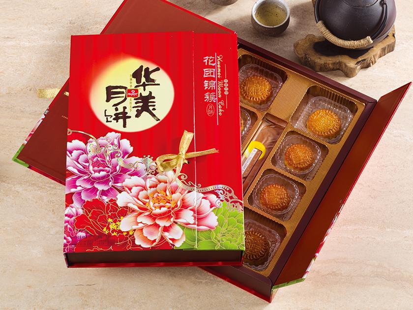 华美月饼-花团锦簇600g